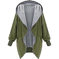 Womens Big Hooded Windbreaker Zipper Baggy Unregelmäßiger Saum Strickjacke Mantel Langarm Reine Farbe Parka Pocket Country Jacke
