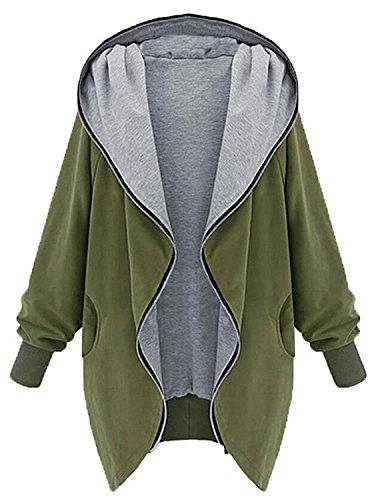 Damen Mantel Parka Casual Kapuzenpullover Hoodie Winterjacke mit Zipper Für Herbst Winter ,Juleya (Kapuzen-sweatshirt Allein)