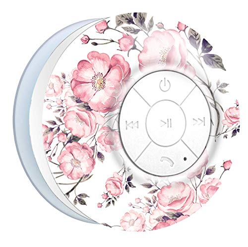 Aduro AquaSound WSP20 Shower Speaker, Portable Waterproof Wireless  Bluetooth Speaker (Floral)