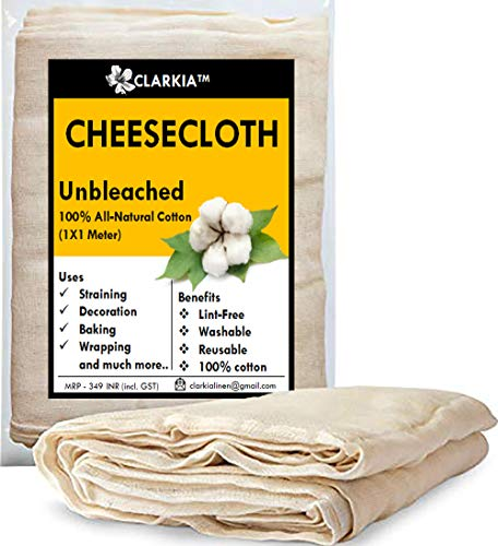 Clarkia Professional Cotton Cheese Cloth Unbleached - 1x1 Meter
