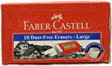 #2: Faber Castell Dust-Free Large Eraser Set - Pack of 10 (White)