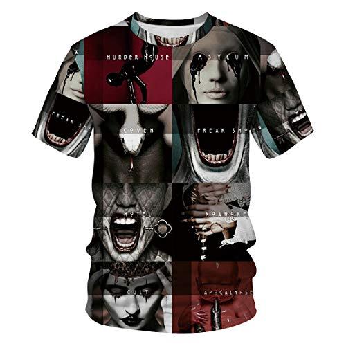 MIDUO 3D T-Shirt BIA-133 Rundkragen Kurzarmshirts für Männer und Frauen, Unisex 3D Casual Tees8fd9cdd8f4db2bd633174a12abc58066,3XL