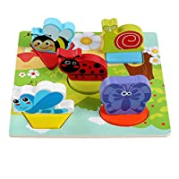 JYC Store 2019 Novelty Kids Baby Wooden Anime 3D Puzzle Wooden Geometric Learning Educational Toy