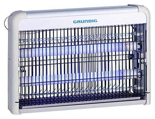 GRUNDIG Insektenvernichter elektrisch mit UV-Licht 2W | für Räume bis 20m² | LED Röhren | Wandmontage - Freistehend - Hängend| gegen Mücken, Fliegen, Motten und andere fliegende Insekten
