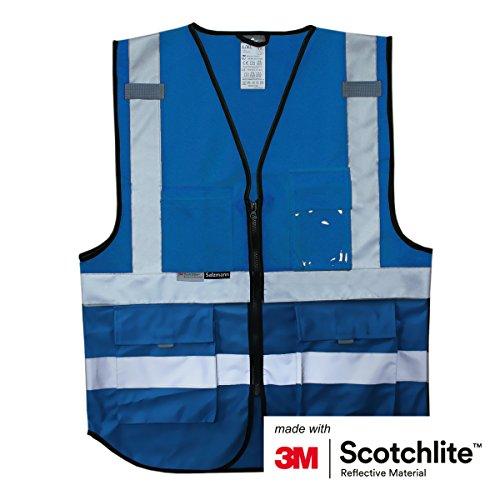 Salzmann Chalecos de Trabajo con bolsillos múltiples, hecho con cinta reflectante 3M
