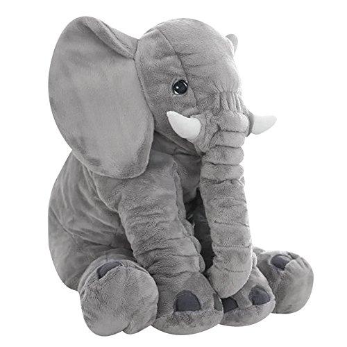 Elefanten Kissen Elefant Plüsch Stuffed Plüschtiere Schlafkissen Baby Spielzeug Groß 60 x 50 x 25 CM (Großes Kissen Für Die Couch)