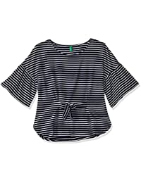United Colors of Benetton Girls' Regular Fit Striped T-Shirt