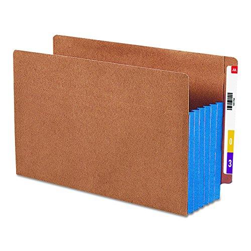 SMEAD Ende Tab Tasche, verstärkte gerade geschnittene Tab, 5-1/10,2cm Expansion, extra breit gesetzlichen Größe, Redrope mit Blau Seitenfalte, 10Stück pro Box (101550) (Datei-ordner Tasche Registerkarte)