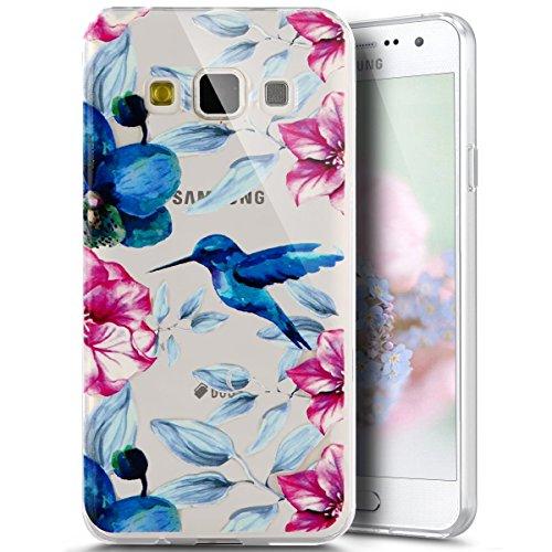 Für Samsung Galaxy J3Fall, Galaxy Amp Prime/Express Prime Fall, Galaxy J32016Fall, phezen Fashion Design Ultra Dünn TPU Gummi weich Skin Silikon Schutz Case Cover Vogel-Motiv - Ultra-dünnen Design