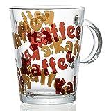 Ritzenhoff & Breker Kaffee Kaffeebecher, Kaffee Becher, Tasse, Geschirr, Glas, Braun, 380 ml, 193626