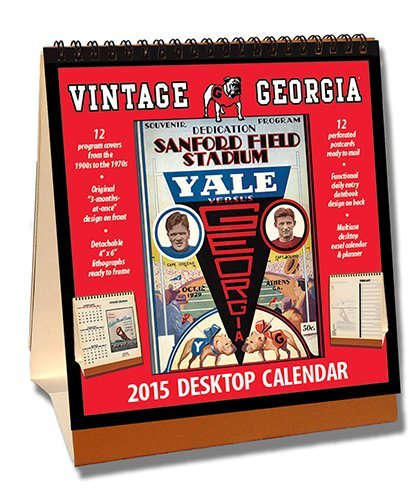 Georgia Bulldogs 2015 Easel Desktop Vintage Football Calendar by Asgard Press (2014-09-15) - Desktop-kalender-easel