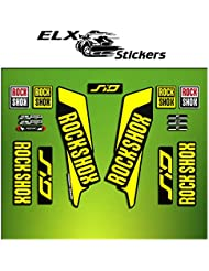 "Pegatinas HORQUILLA ROCK SHOX SID 2016 ELX36 STICKERS AUFKLEBER AUTOCOLLANT DECALS BICICLETA CYCLE MTB BIKE 29"" (AMARILLO/ YELLOW)"