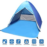 Pop Up Beach Tent,VicPow Portable UV Beach Tent,Instant Tent,Sun Shelter,2-3 Person Camping Tent