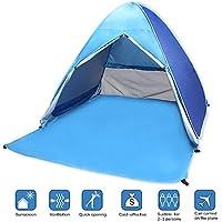Tienda de Campaña Automático,VicPow Anti-UV Instantánea Pop Up Tienda,Ligero y fácil instalación al aire libre Sun Shelters para 2-3 personas Camping,senderismo
