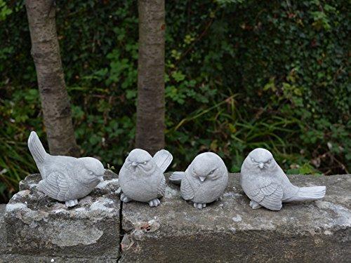Offre spéciale : Lot de 4 oiseaux Mésange bleue des animaux en pierre au gel