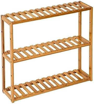 TecTake Estantería de madera bambú - varios modelos -