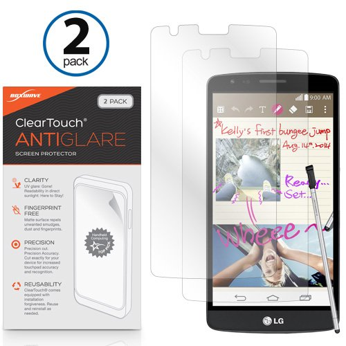 BoxWave ClearTouch AntiGlare Displayschutzfolie für LG G3Stylus (2er Pack)-LG G3Stylus, blendfrei, Anti-Fingerprint Matt Folie Haut, vor Kratzern zu schützen (Glare Protector Screen G3 Lg Anti)