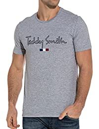 Teddy Smith Men39s Basic Gray Logo t-Shirt