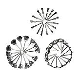 Sharplace 45 Pcs Kit Di Ruote Lucidanti Levigatrice Pennello Miscelare Filo Acciaio Argento