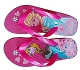 Disney Frozen Flip Flop Badelatschen Zehentreter Anna & Elsa Eiskönigin (32/34, Pink)
