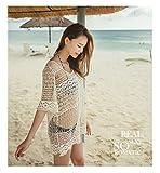 xinhao Bikini Camicetta di Lunghezza Media, Sciolto Cavo, Bikini Camicetta, Maglia Spiaggia, Giacca di Protezione Solare, Donna Primaverile.