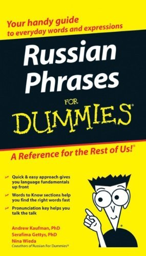 Portada del libro Russian Phrases For Dummies by Andrew Kaufman Ph.D. (4-Sep-2007) Paperback