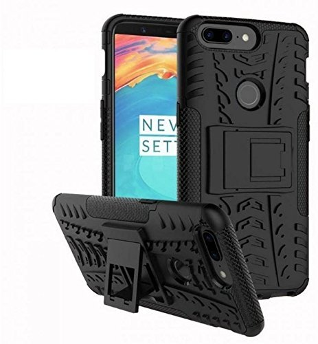 HRV Defender Stylish Hard Back Armor Shock Proof Case Cover with Back Stand Feature for OnePlus 5T