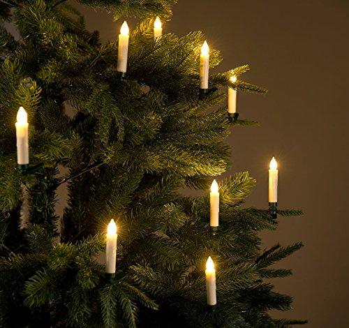 Lichterkette Weihnachtsbaum Kabellos.Lunartec Lichterkette Kabellos 30er Set Led Weihnachtsbaum Kerzen Mit Ir Fernbedienung Timer Weiß Weihnachtsbaumkerzen Led