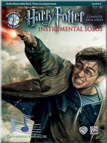 Produktbild Harry Potter Instrumental Solos Violin - Selections from the Complete Film Series - Violine Noten [Musiknoten]