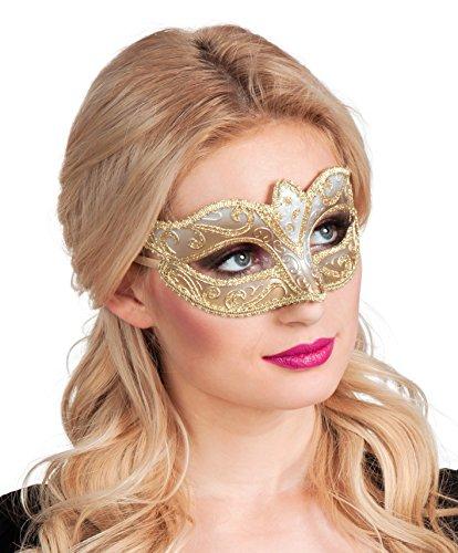 Boland 00338 - Augenmaske Venice Felina, Gold (Halloween-maske Die Purge-stil)