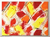 Acrylbilder, Original moderne Kunst in Rot Gelb Orange: