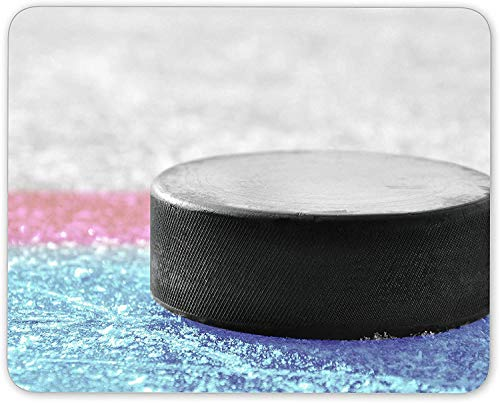 xinhengchang3506 Ice Hockey Puck Mouse Mat Pad - Teenager Boys Ice Skater Gift Computer #14196