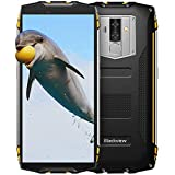 Blackview BV6800Pro Moviles Resistentes,6580mAh,4+64 GB ROM Dual SIM,5.7''FHD+18:9,16+13MP Camaras Duales Android 8.0 Movil IP69K,Octa-Core 1.5Ghz Rugged Phone,Face ID/NFC/GPS/Bluetooth,Amarillo