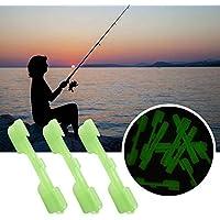 Clip pesca 10pcs / pack Tackle Accesorio Soporte Químico Snap Lure Portátil Durable Top Night Fluorescente Práctico Tipo varilla Light Stick(L)