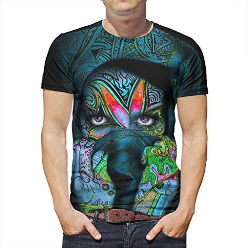 Smakkxx T-Shirt Herren Damen 3D Druckten Sommer Kurze Hülsen Mädchen Grafik T Shirts Männer Kreativ Lässig Rundhalsausschnitt Top Tee White 3X-Large