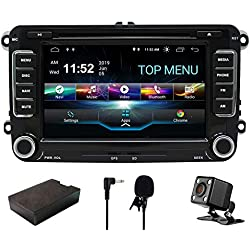 SWTNVIN Android 9 Car Audio Stereo Headunit Fits for Volkswagen Skoda DVD Player Radio 7 Inch HD Touch Screen GPS Navigation with Bluetooth WIFI Steering Wheel Control 2GB+16GB