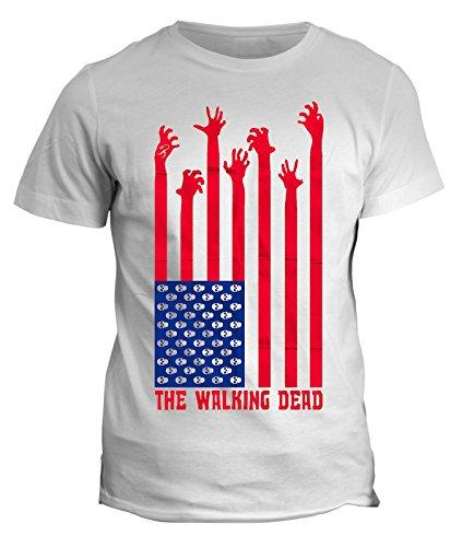 Tshirt Walking USA Dead Zombie - in cotone by Fashwork Bianco