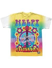 Aide officielle Mens Beatles / hier icône teindre par nouage T-Shirt