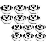 Floranso Steel Bowl 12 Pcs Combo Of Large And Medium Size Stainless Steel Veg Bowl Vati Katori Serving Dish