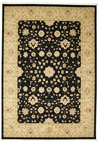 FeelGoodRugs 100 x 160 cm, Farahan Ziegler Orientteppich Teppich, Beige/Rot, Synthetisch, schwarz, 250x350 (Teppich Clearance Schwarzer)