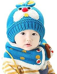 Zhouba bambine ragazzi inverno caldo berretto in pile Cartoon Rabbit Beanie  sciarpa set 990200e6a4f0