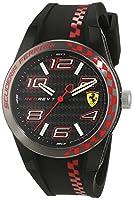 Scuderia Ferrari Orologi REDREV 0830336 - Reloj de pulsera de caballero, analógico, mecanismo de cuarzo y silicona de Scuderia Ferrari Orologi