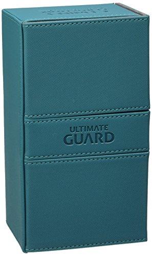 Ultimate Guard UGD010472 - Twin Flip´n´Tray Deck Case 200+ Standardgröße XenoSkin, Petrolblau (Twin Deck Case)