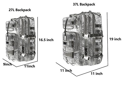Seibertron Falcon taktischer Rucksack kompakt Angriff Pack Gipfel Tasche Black 37L