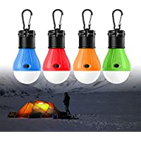 Tienda de campaña luces Farol de Camping,WeyTy Linterna Led Portátiles LED Lampara de Camping Luz para Al Aire Libre Camping Senderismo Escalada Pesca o Hogar Coche Reparación-Paquete de 4
