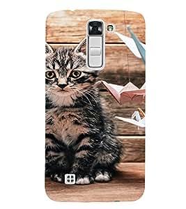 EPICCASE sad cat Mobile Back Case Cover For LG K10 (Designer Case)