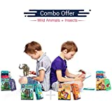 Wild Animals + Insects | Age 3-10 Years | Educational Gift For Kids | Playing Card Set | Augmented And Virtual Reality Learning Game | Combo Pack Of 2