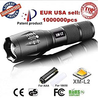 XM-L T6 led 2000Lumens Zoomable Flashlight Torches lights lamps