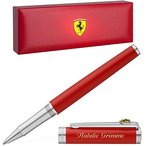 Sheaffer Kugelschreiber Ferrari Intensity Satin Red mit persönlicher Laser-Gravur rot satiniert Rosso Corsa