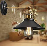 Industrielle Regenschirm Vintage Loft Retro Wandlampe Edison Lampe E27 Durchmesser 22cm Schwarz Metal Loft Pendelleuchte
